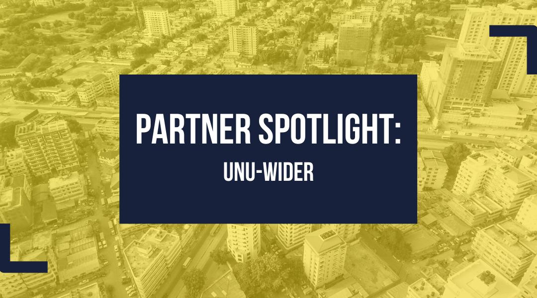Partner Spotlight: UNU-WIDER